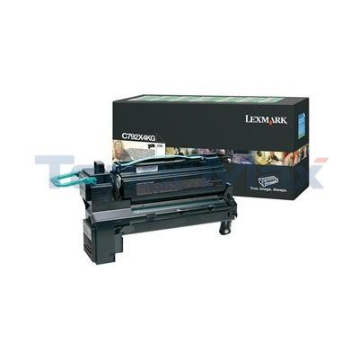 LEXMARK C792 PRINT CART BLACK XHY RP TAA